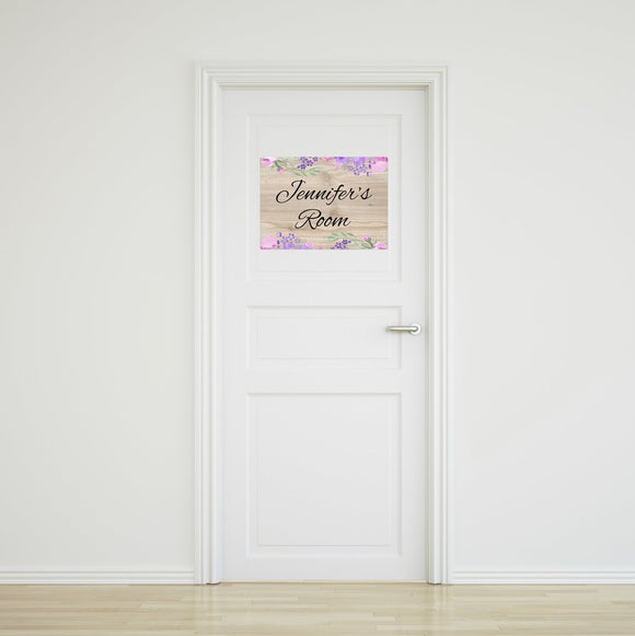 Flower Door Sign Small