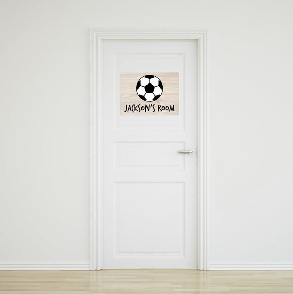 Soccer Ball Door Sign Large