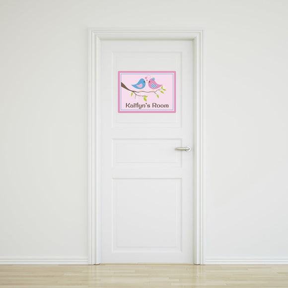 Two Birds Door Sign Large