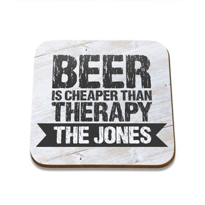 Beer Therapy Square Coaster - Set of 4