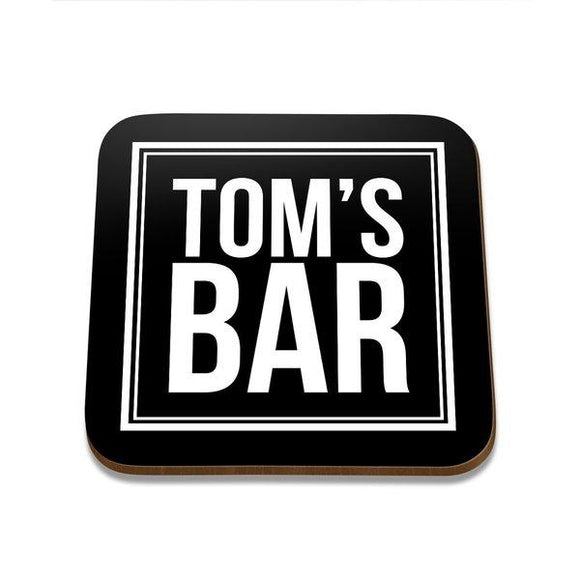 Tom's Bar Square Coaster - Set of 4