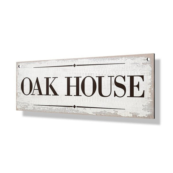 White Wash Property Sign - 24x8