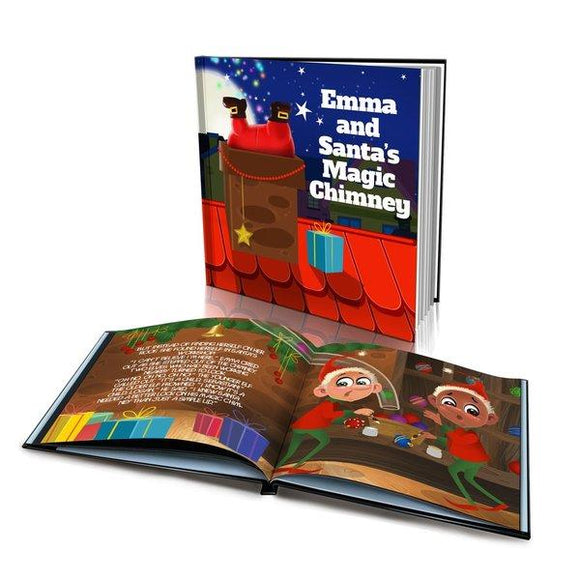 Santa's Magic Chimney Large Hard Cover Story Book