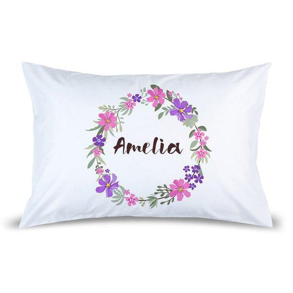 Wreath Pillow Case