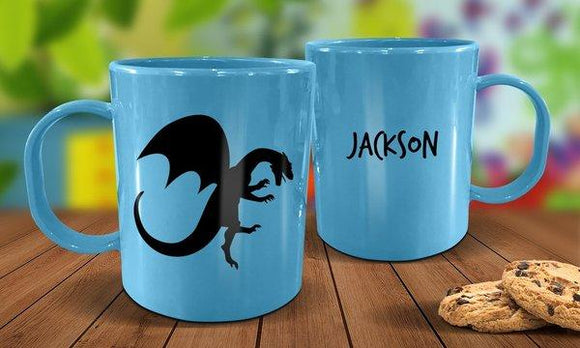 Dragon Plastic Mug - Blue