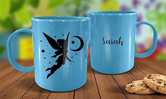 Fairy Plastic Mug - Blue