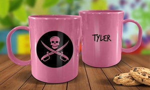 Pirate Plastic Mug - Pink