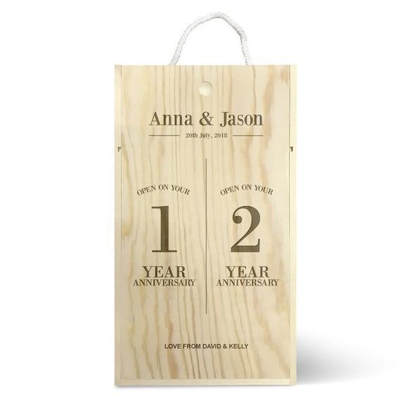 Anniversary Double Wine Box