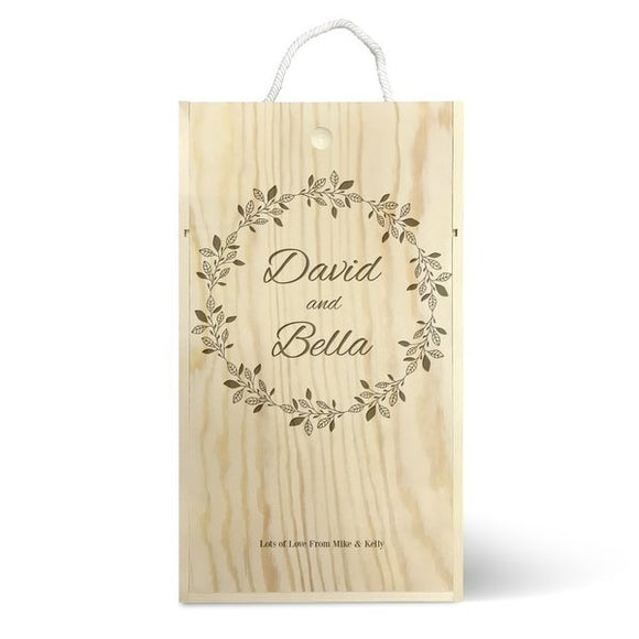 Wreath Double Wine Box