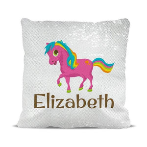 Pony Magic Sequin Cushion Cover
