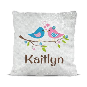 Two Birds Magic Sequin Cushion Cover