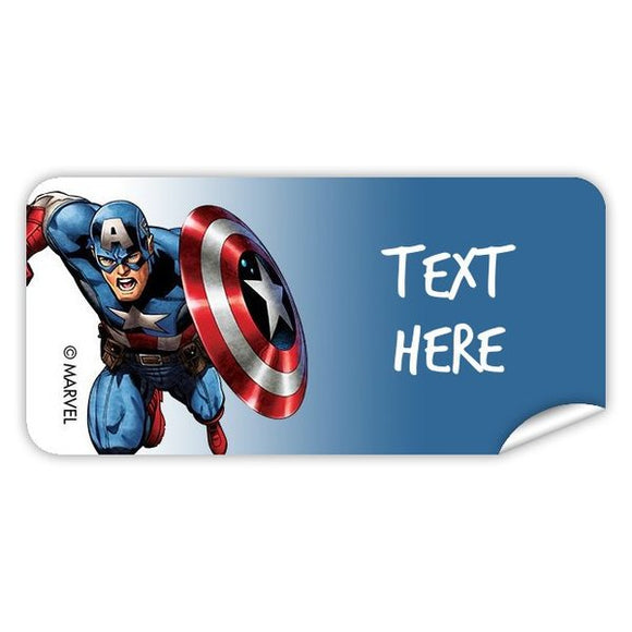 Captain America Rectangle Labels 48pk