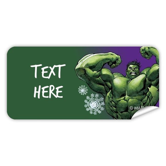Hulk Christmas Rectangle Labels 48pk