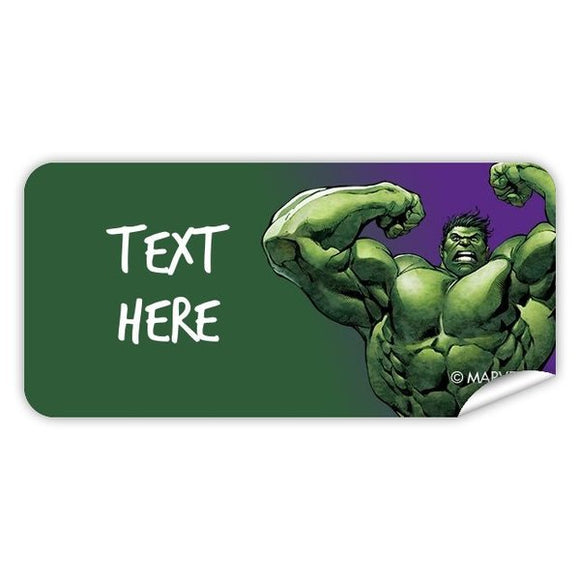 Hulk Rectangle Labels 48pk