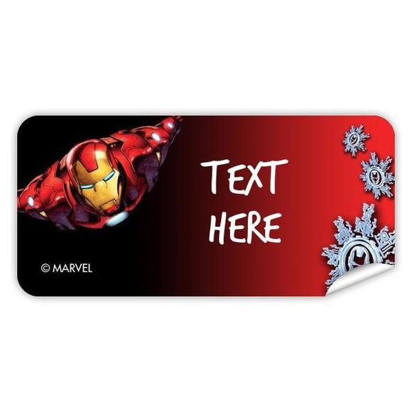 Iron Man Christmas Rectangle Labels 48pk