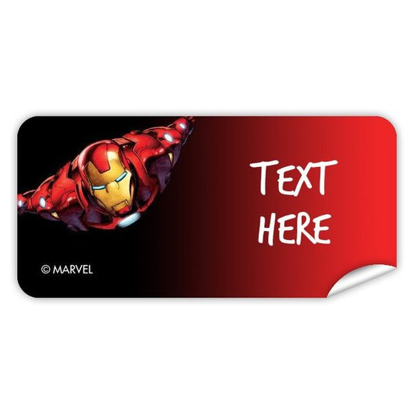 Iron Man Rectangle Labels 48pk
