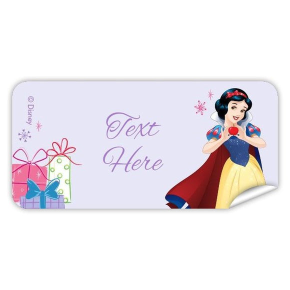 Snow White Rectangle Labels 48pk