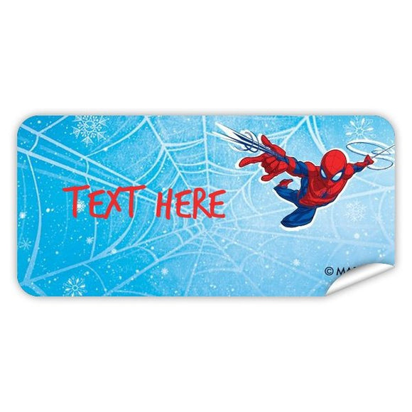 Spider-Man Rectangle Labels 48pk