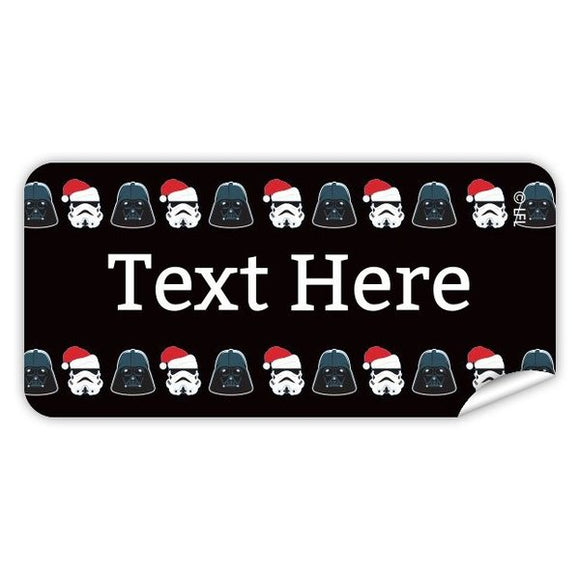 Jingle Troopers Rectangle Labels 48pk