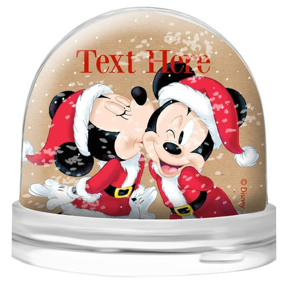 Mickey & Minnie Santa Snow Globe