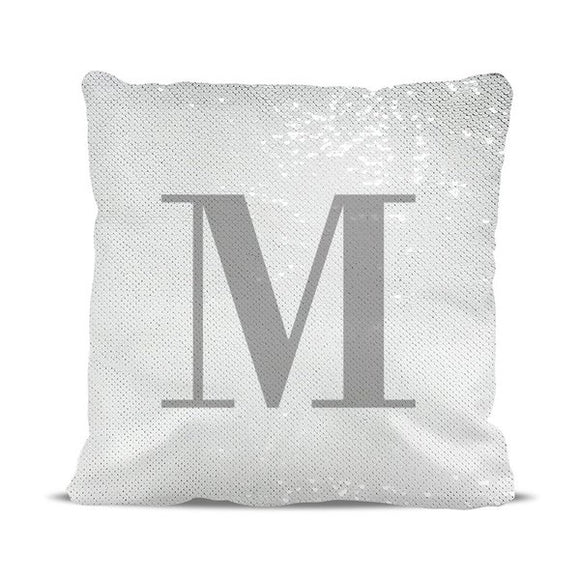 Initial Magic Sequin Cushion Cover