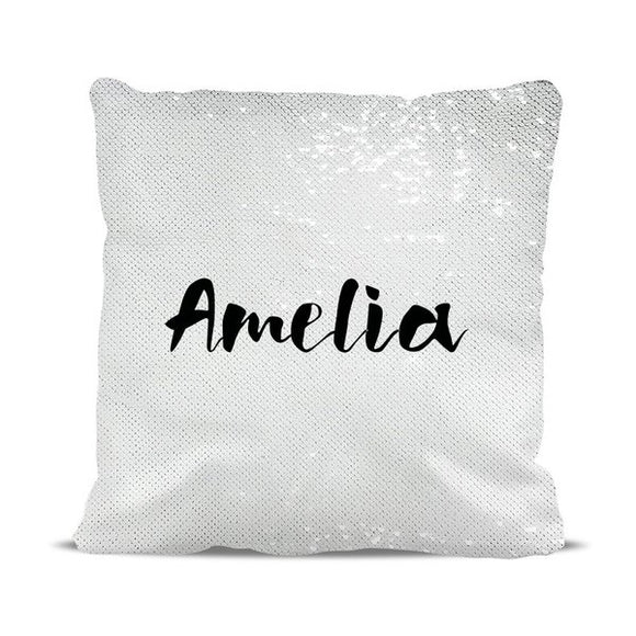 Name Magic Sequin Cushion Cover