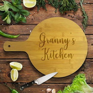 Kitchen Round Bamboo Serving Board