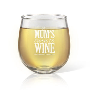 Turn To Stemless Wine Glass