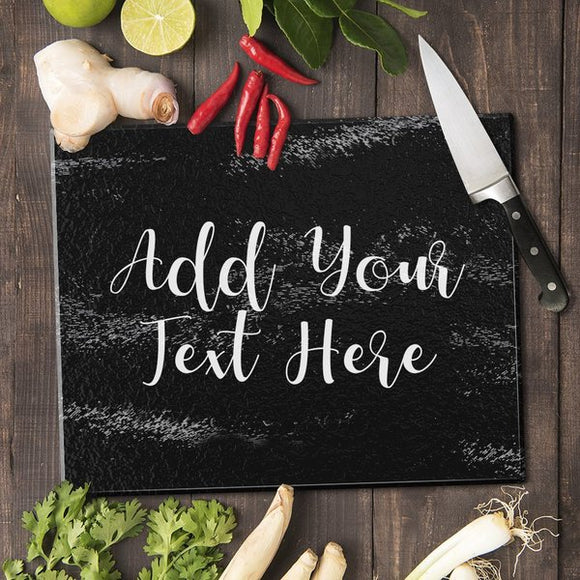 Add Your Own Message Glass Cutting Board