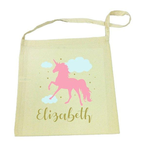 Pink Unicorn Library Bag