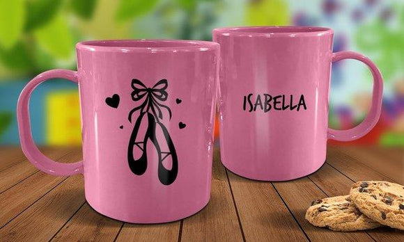 Ballet Shoes Plastic Mug - Pink