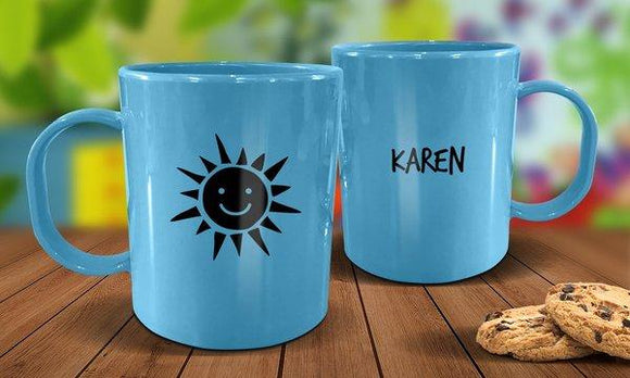 Sunshine Plastic Mug - Blue