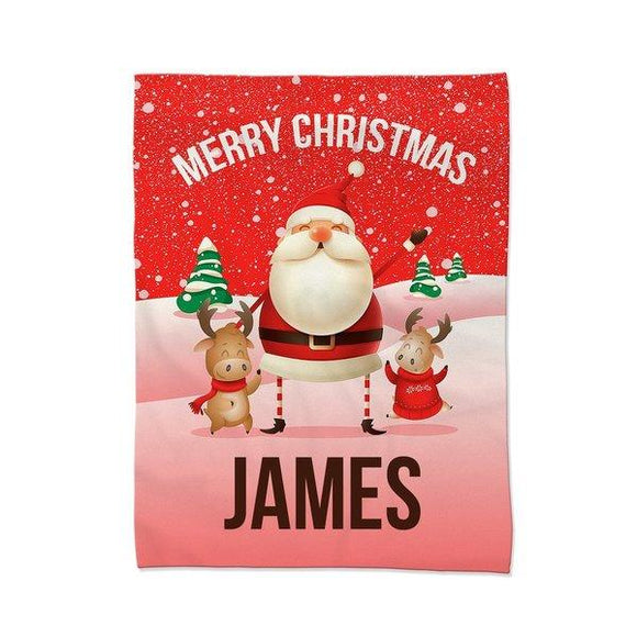 Red Santa Blanket - Large