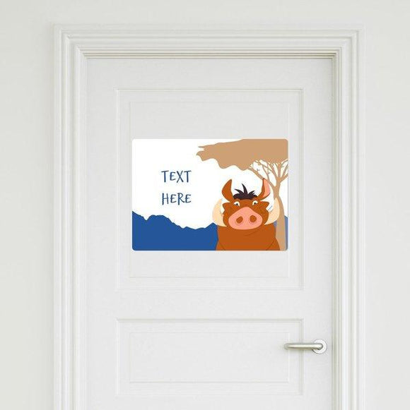 The Lion King - Pumbaa Door Sign
