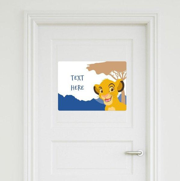 The Lion King - Simba Door Sign