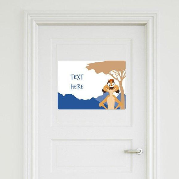 The Lion King - Timon Door Sign