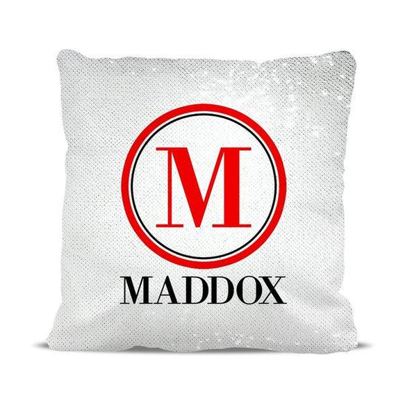 Monogram Magic Sequin Cushion Cover