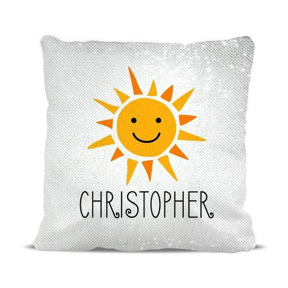 Sunshine Magic Sequin Cushion Cover