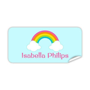 Rainbow Rectangle Labels 48pk