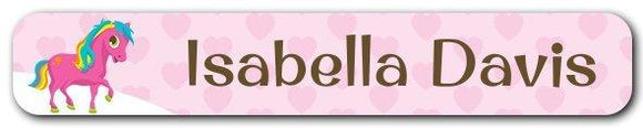 Pony Mini Name Labels 78pk (Temporary Out of Stock)