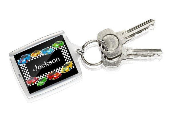 Race Cars Keyring