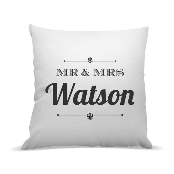 Mr & Mrs Premium Cushion Cover