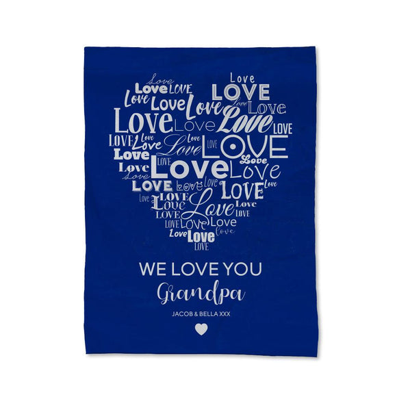 Love You Grandpa Blanket - Small
