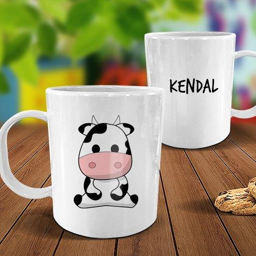 Cow White Plastic Mug