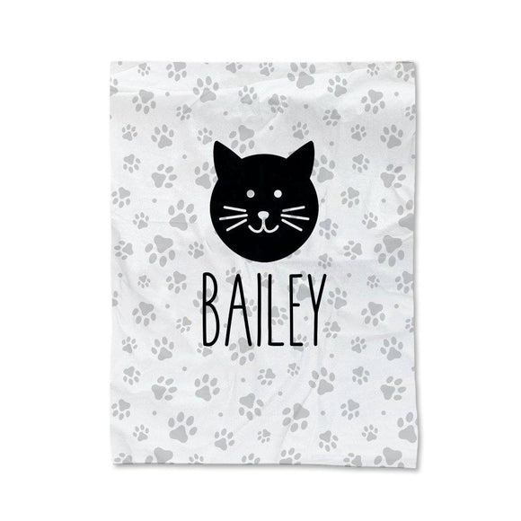 Paw Prints - Cat Pet Blanket - Medium