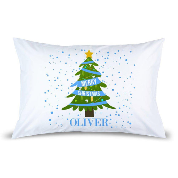 Blue Christmas Pillow Case