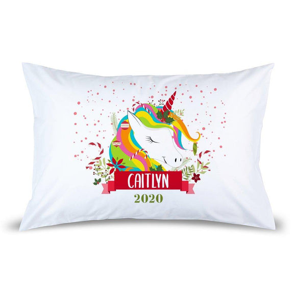 Colourful Unicorn Pillow Case