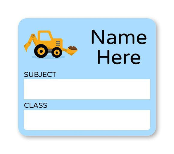 Little Digger School Book Label