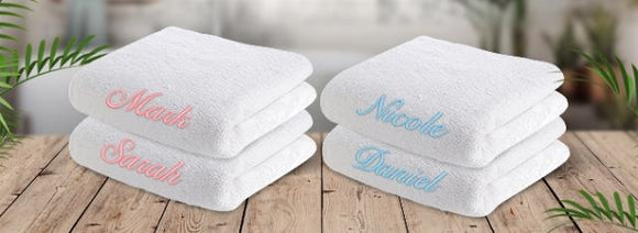 Embroidered Bath Towel - Standard