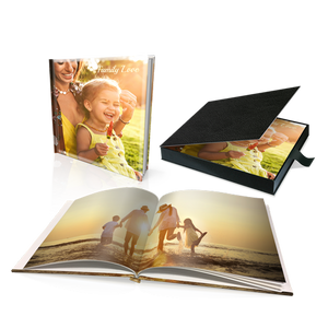 "8 x 8"" Premium Personalised Hard Cover Book in Presentation Box"